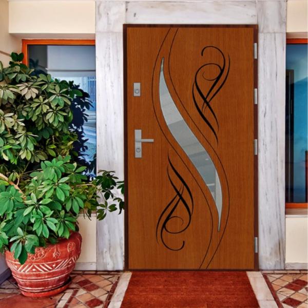 Drzwi zew. drewniane AGMAR ATUM