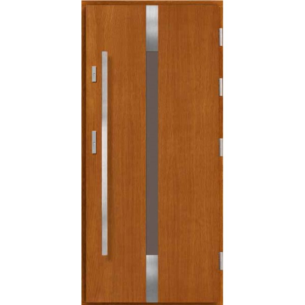 Drzwi zew. drewniane AGMAR KARMINA