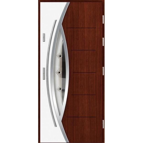 Drzwi zew. drewniane AGMAR DUO dwukolorowe