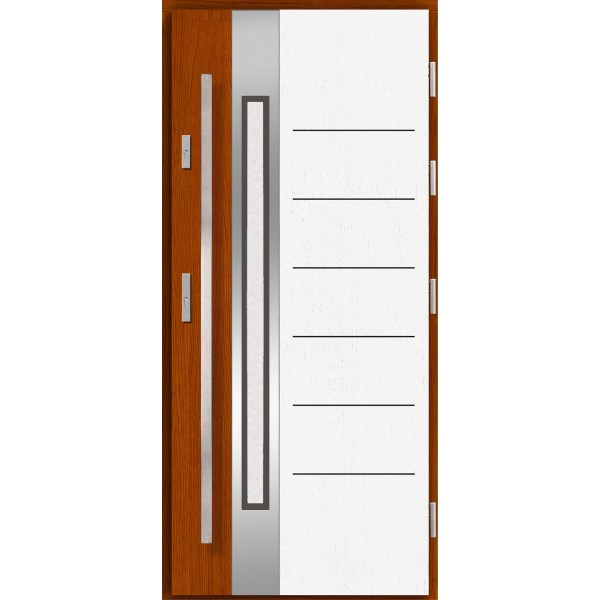 Drzwi zew. drewniane AGMAR HOFTA dwukolorowe