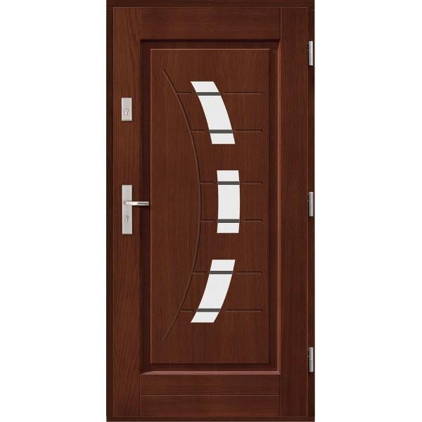 Drzwi zew. drewniane AGMAR KARBON