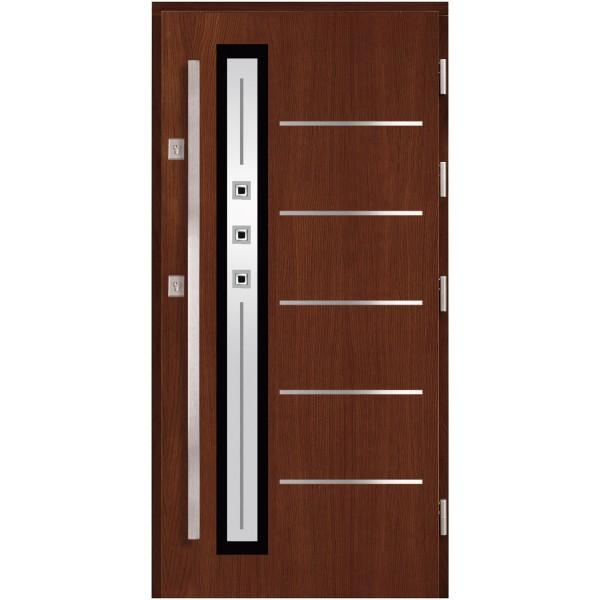 Drzwi zew. drewniane AGMAR PLATINO