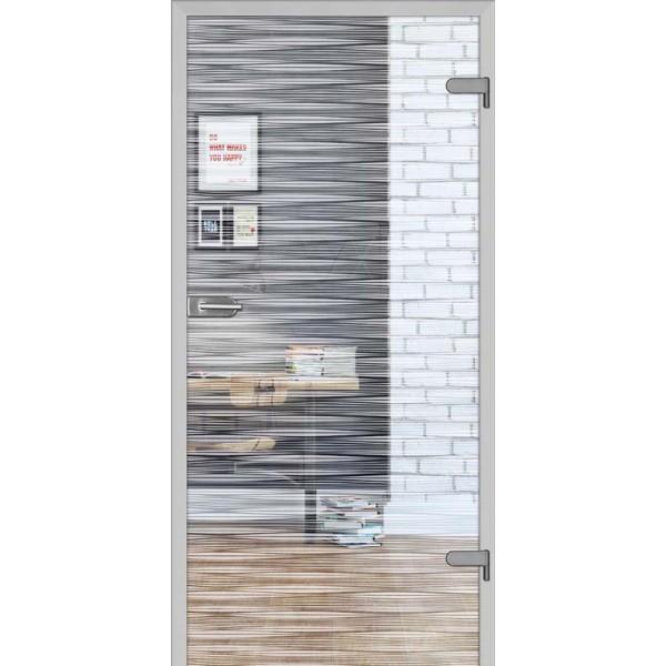 Drzwi wew. szklane DRE GALLA 10 - Przeźroczysta
