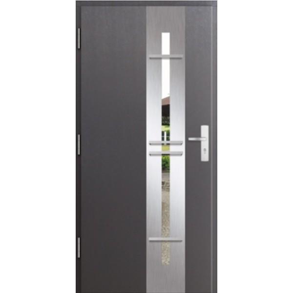 Drzwi zew. stalowe MIKEA PASIV wzór CENTRO 3D 190...