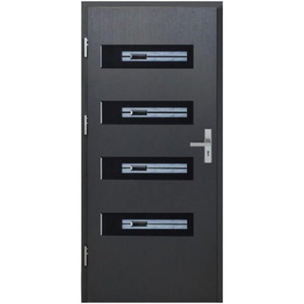 Drzwi zew. stalowe MIKEA PASIV wzór VETRO