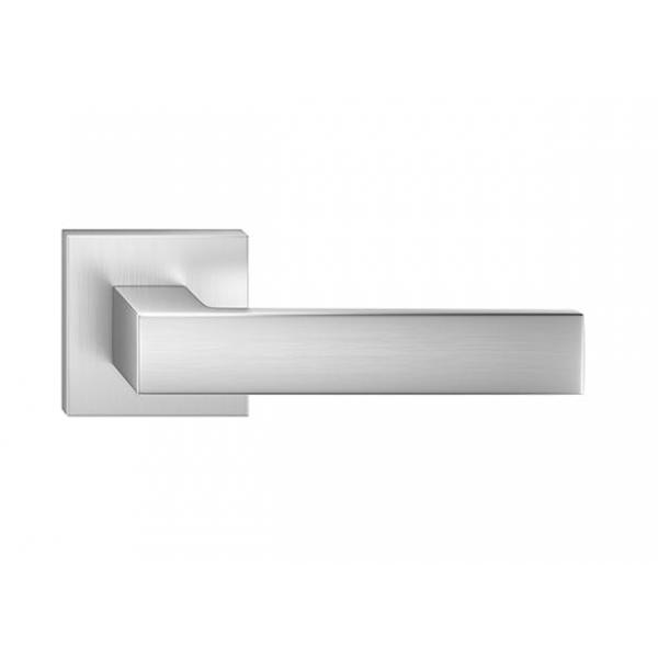 Klamka wew. Metal-Bud Cube Chrom Szczotkowany Matt