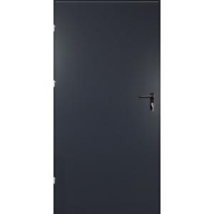 Drzwi techniczne met. PEŁNE GRAFITOWE