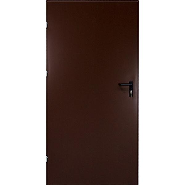Drzwi techniczne Met. PEŁNE BRĄZOWE