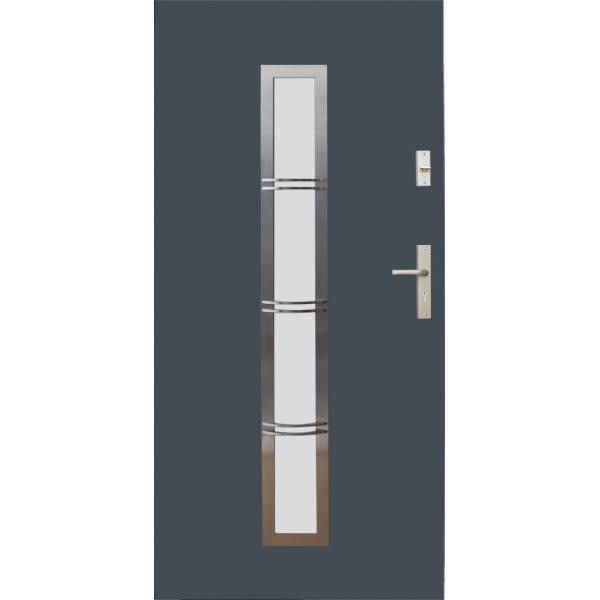 Drzwi zew. stalowe WIKĘD - WZÓR 12B