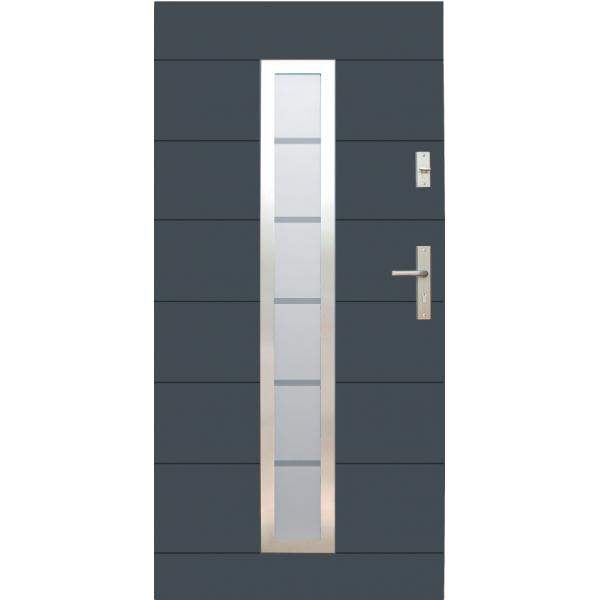 Drzwi zew. stalowe WIKĘD - WZÓR 12C OD RĘKI