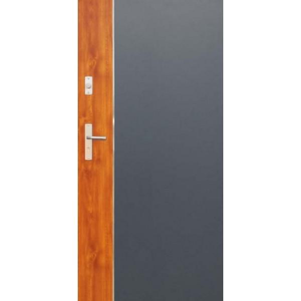 Drzwi zew. stalowe WIKĘDFUTURE INOX FI01A