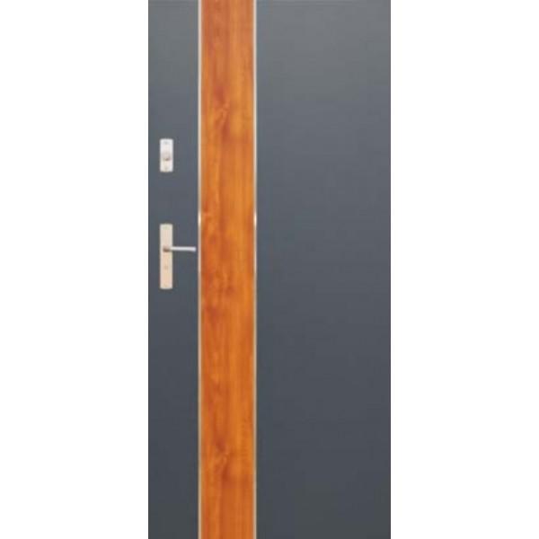 Drzwi zew. stalowe WIKĘDFUTURE INOX FI01B
