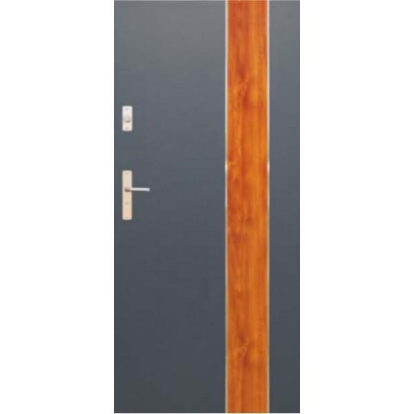 Drzwi zew. stalowe WIKĘDFUTURE INOX FI01D