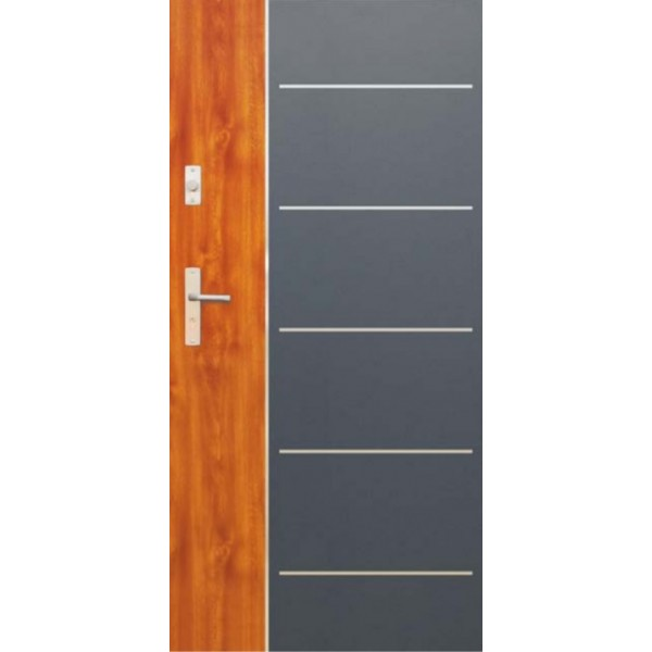 Drzwi zew. stalowe WIKĘDFUTURE INOX FI02A