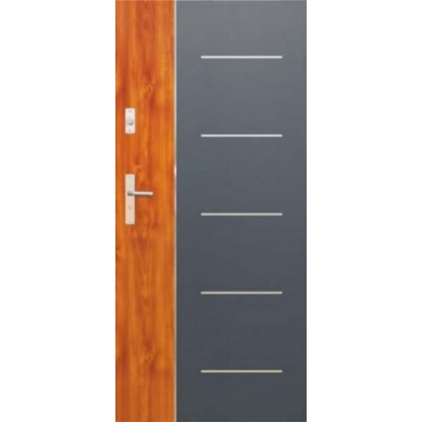 Drzwi zew. stalowe WIKĘDFUTURE INOX FI02B