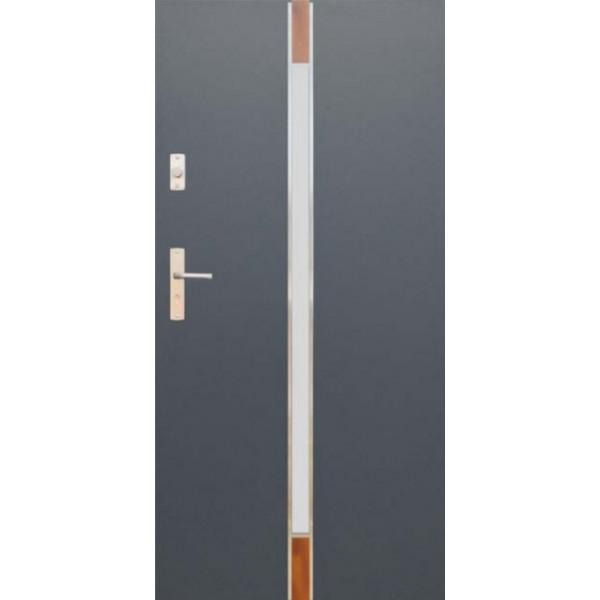 Drzwi zew. stalowe WIKĘDFUTURE INOX FI04A