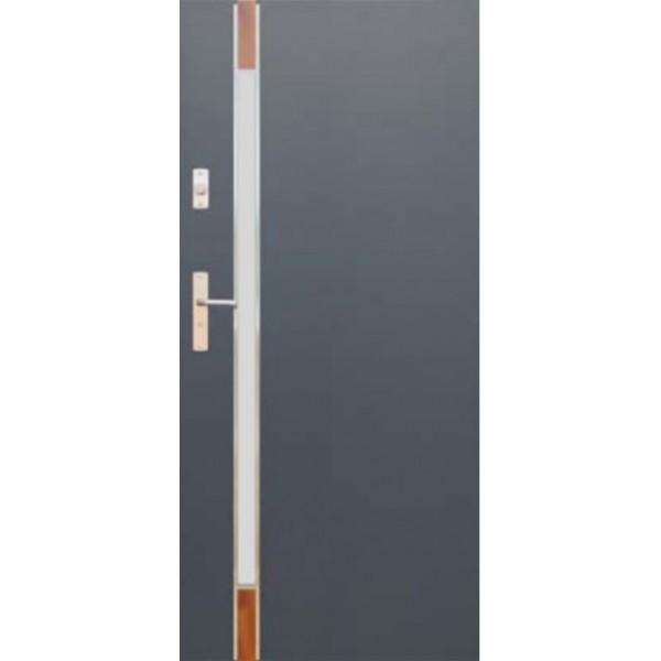 Drzwi zew. stalowe WIKĘDFUTURE INOX FI04B