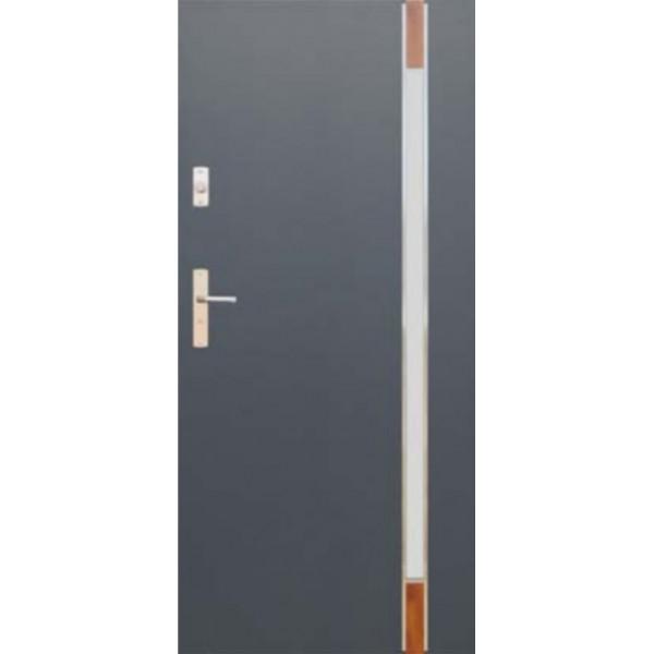 Drzwi zew. stalowe WIKĘDFUTURE INOX FI04C
