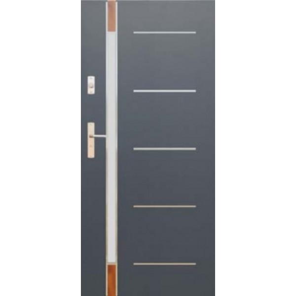 Drzwi zew. stalowe WIKĘDFUTURE INOX FI04E