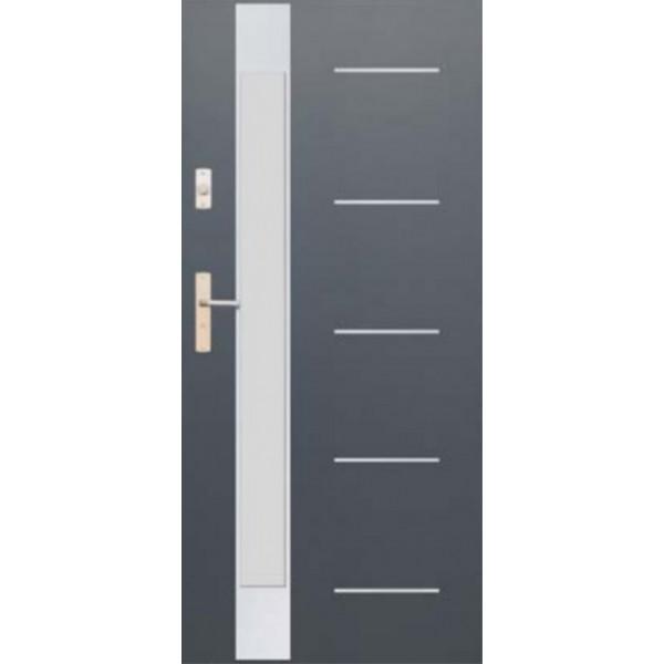Drzwi zew. stalowe WIKĘD FUTURE INOX FI07E