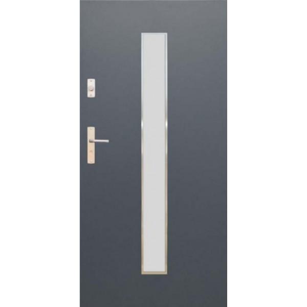 Drzwi zew. stalowe WIKĘD FUTURE INOX FI08A