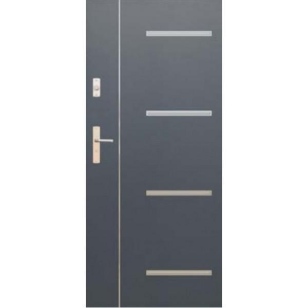 Drzwi zew. stalowe WIKĘD FUTURE INOX FI09B