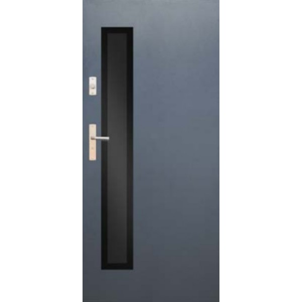 Drzwi zew. stalowe WIKĘD GLASS DESIGN GD01B