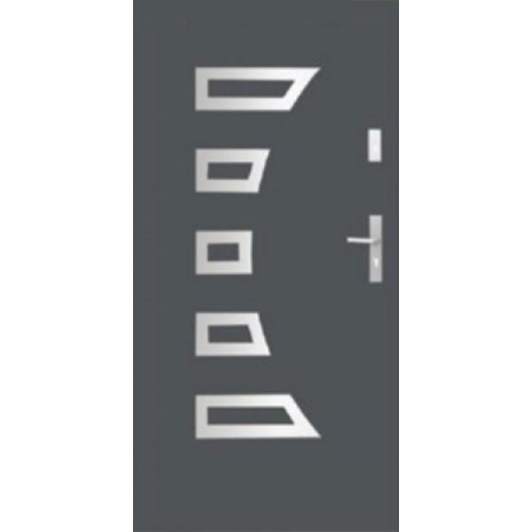Drzwi zew. stalowe WIKĘD - WZÓR 23A Inox