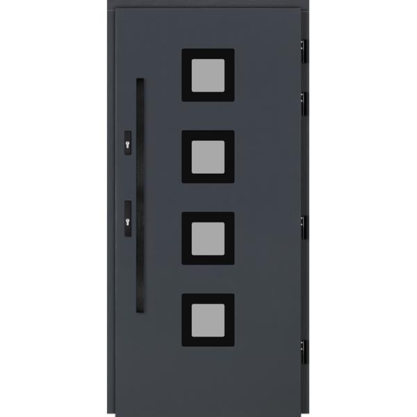 Drzwi Zew. Drewniane DOORSY ARI BLACK 01