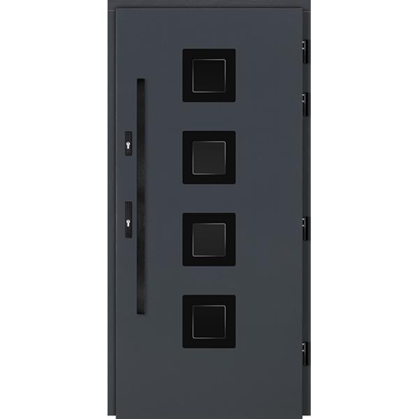 Drzwi Zew. Drewniane DOORSY ARI BLACK 03