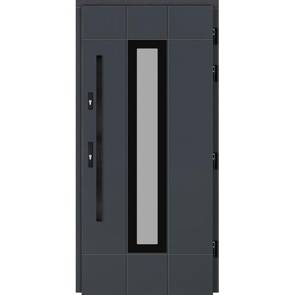 Drzwi Zew. Drewniane DOORSY BOLZANO BLACK 02