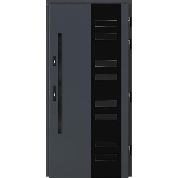 Drzwi Zew. Drewniane DOORSY CASSINO BLACK 03