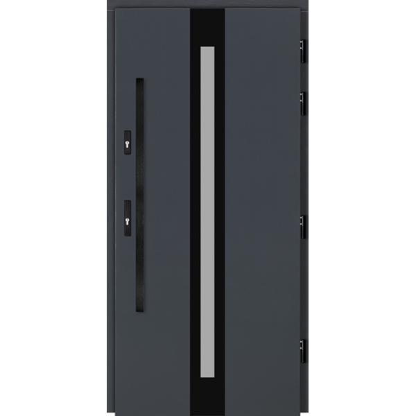 Drzwi Zew. Drewniane DOORSY CENTO BLACK 01