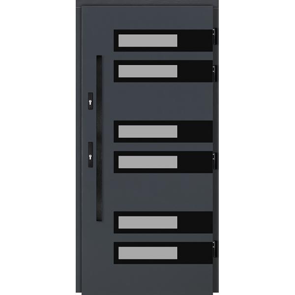 Drzwi Zew. Drewniane DOORSY COMISO BLACK 01