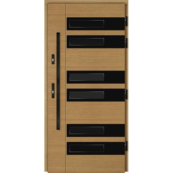 Drzwi Zew. Drewniane DOORSY COMISO BLACK 04
