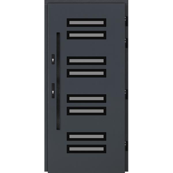Drzwi Zew. Drewniane DOORSY COMO BLACK 01
