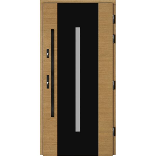 Drzwi Zew. Drewniane DOORSY FERRARA BLACK 01