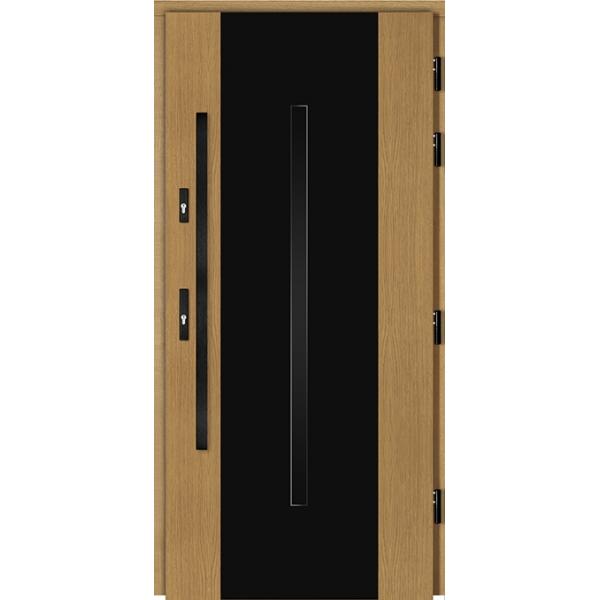 Drzwi Zew. Drewniane DOORSY FERRARA BLACK 03A