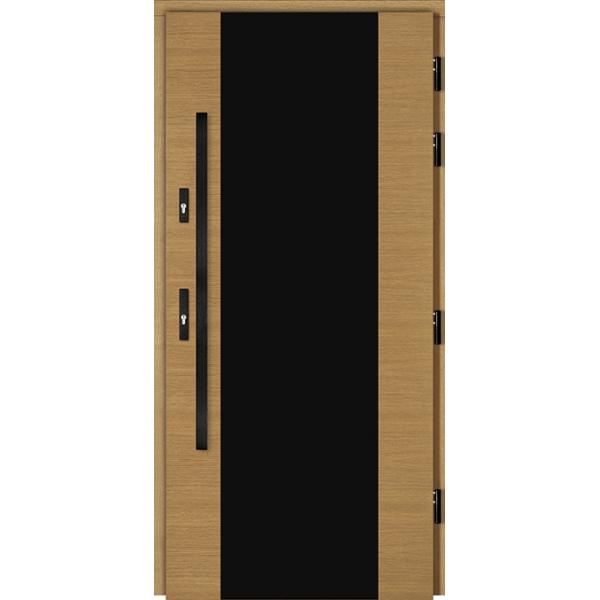 Drzwi Zew. Drewniane DOORSY FERRARA BLACK PEŁNE
