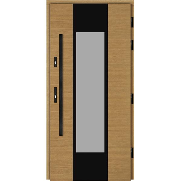 Drzwi Zew. Drewniane DOORSY GARDA BLACK 01