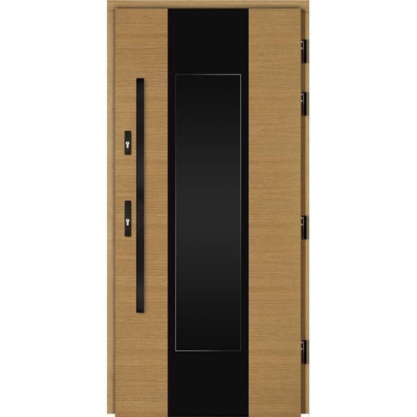 Drzwi Zew. Drewniane DOORSY GARDA BLACK 03