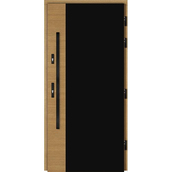 Drzwi Zew. Drewniane DOORSY GLACIER BLACK PEŁNE