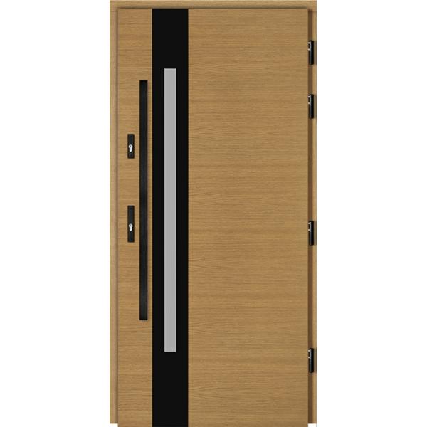 Drzwi Zew. Drewniane DOORSY ROVIGO BLACK 01