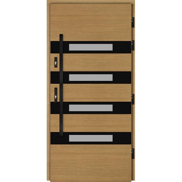 Drzwi Zew. Drewniane DOORSY TIVOLI BLACK 01