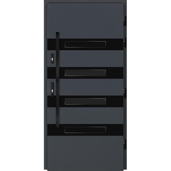 Drzwi Zew. Drewniane DOORSY TIVOLI BLACK 03